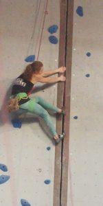 climbing crack at Vertical Adventure