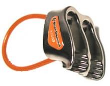 Tubular belay device with ridges